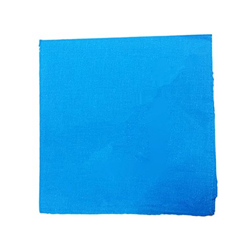(6 Pieces 100% Cotton Cowboy Head Wrap Scarf Solid Color Bandanas(Turquoise Blue))