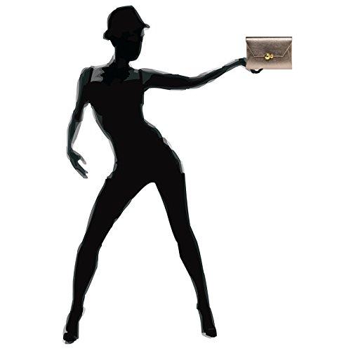 CASPAR Pochette Taupe femme pour Fashion ZZxrfTq