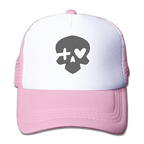 LQYG Skull Hip-Hop Cotton Hats Leisure Snapback For Outdoor Sports Pink