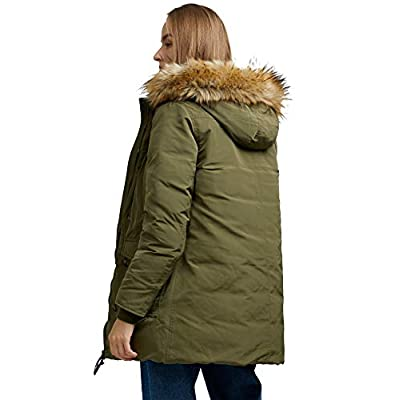 SPECIALMAGIC Parka Down Jacket Women Waterproof Jacket Winter Down Coat Puffer Thickened with Fur Hoodie Relaxed Fit: Clothing