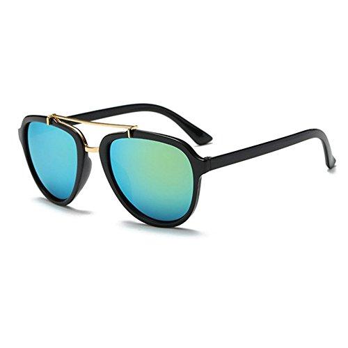 8716a415289619 Aoligei Tidal current lunettes de soleil en métal doubles Liang mercure  lunettes rétro gros frame extérieures