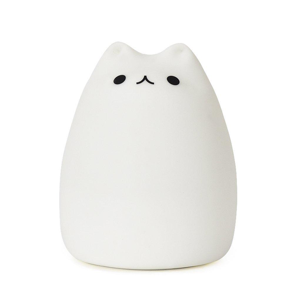 Umiwe Cute Kitty LED Children Night Light Kids Silicone Cat Lamp 7 ...