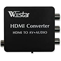 Wiistar HDMI to AV + Audio Converter Support SPDIF and Coaxial Audio Outputs NTSC PAL for TV/PC/PS3/Blue-ray DVD 1080p