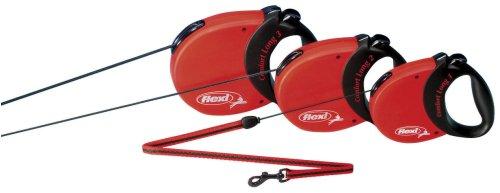 Flexi Comfort Long 26-Feet Medium Leash, 44-Pound, Red/Black, My Pet Supplies