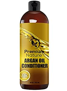 Argan Oil Deep Conditioner - Rejuvenates Heat Damaged Hair Nourishes & Prevents Breakage Sulfate Free - All Hair Types - Dry Damaged Colored Hair - Volumizing & Moisturizing 16 oz Premium Nature
