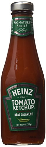 Heinz Tomato Ketchup Blended with Real Jalapeno, 14 oz, (Pack of 2) (Tomato Jalapeno)