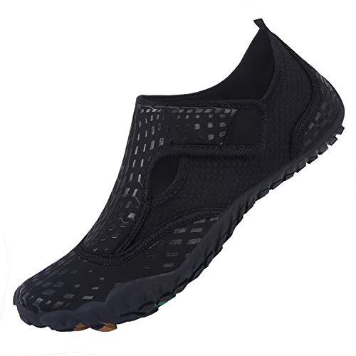 L-RUN Mens Water Sports Shoes for Pool Beach Black 11 M US Women, 9 M US Men