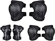 Kids Sports Protective Gear Set,6PCS Wrist Guard Knee Elbow Pads for Children Protection Skateboard Inline Rol
