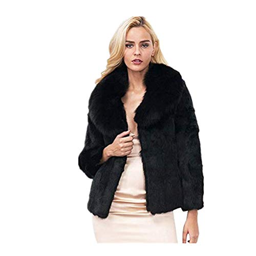 Kulywon New Ladies Womens Warm Faux Fur Fox Coat Jacket Winter Parka ()