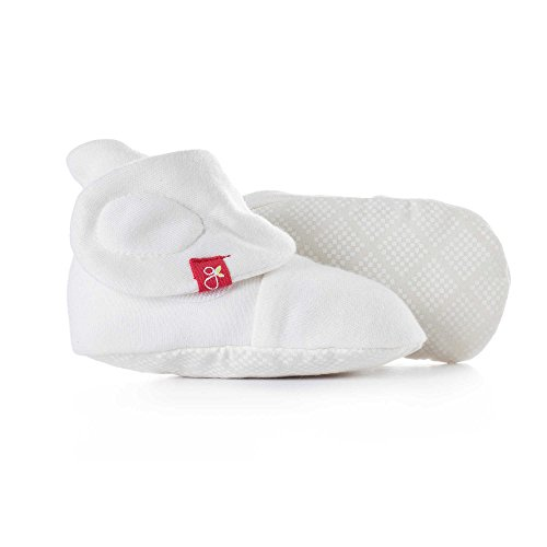 Goumikids - Goumiboots, Soft Stay On Booties Keeps Feet Warm and Adjusts to Fit as Baby Grows (Diamond Dots/Cream, 0-3 Months) ()