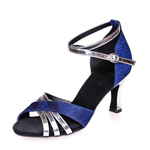 L Soie YC Chaussures blue Rouge Brun Bleu avec Danse Personnalisable Noir Multicolore Danse Femmes Latin YZwYHrx