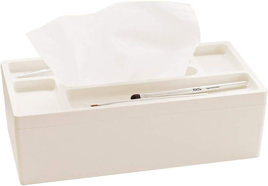 Lunmore Multifunctional Tissue Box Rectangular Napkin Holder Facial Tissue Dispenser Suitable for Home Office