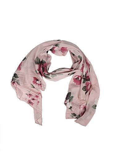 Zwillingsherz Seiden-Tuch Damen Blumen Muster - Made in Italy - Eleganter Sommer-Schal für Frauen - Hochwertiges Seidentuch/Seidenschal - Halstuch und Chiffon-Stola Dezent Stilvoll