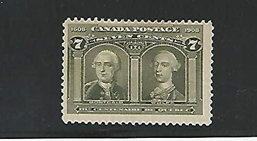 Canada, Postage Stamp, 100 Mint Hinged Bright Color, 1908, JFZ