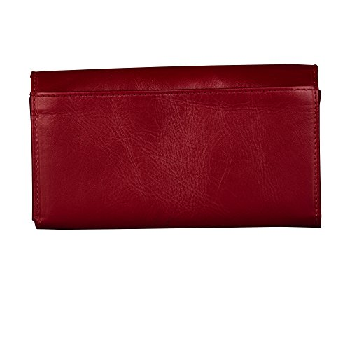 Slots ID 6 On Clutch Finelaer Card 5 Purse Bag 1 Wallet Cash Snap Red Women Envelope Leather ZF8aOq8v