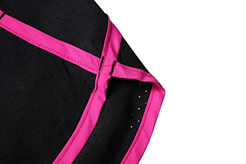 AXEN Women\'s Light Breathable Workout Running Shorts with Pockets Absorb Sweat Quick Dry, Black M