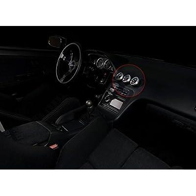"BlackPath - Fits Nissan 52mm 2"" Triple Gauge Holder 180Sx + 200Sx + 240Sx Pod Holder S13 Vent Bezel (Black) T6 Billet: Automotive"
