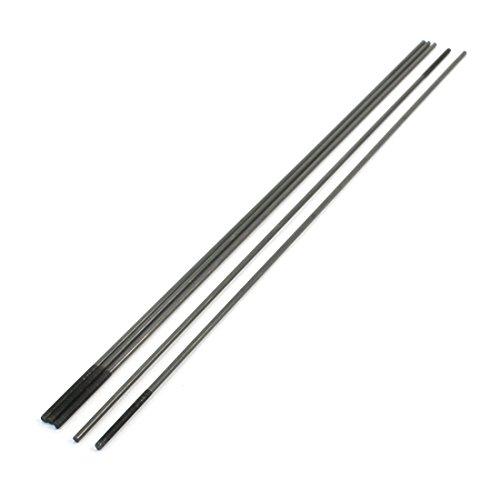 5pcs 30 x 3mm One End Threaded 30cm Long Metal Push ()