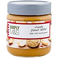Marks & Spencer Crunchy Peanut Butter (Made With Roasted Peanuts) 340g (Pack of 2)