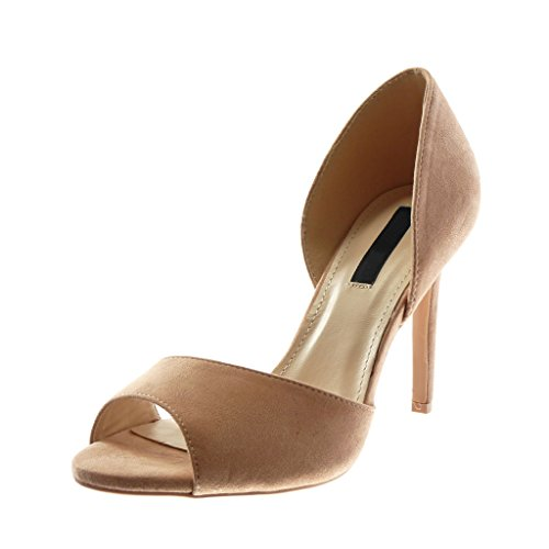 Angkorly Damen Schuhe Pumpe Sandalen - Stiletto - Slip-on - Peep-Toe Stiletto High Heel 10 cm