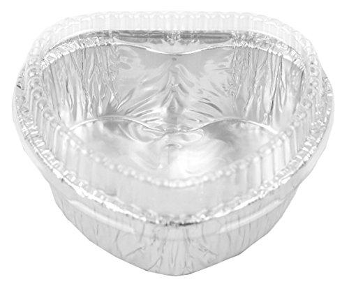 Aluminum Foil Cups Cordate 3-5/8