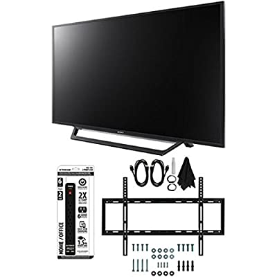 Sony KDL-55W650D 55-Inch Full HD 1080p TV with Built-in Wi-Fi Flat Wall Mount Bundle