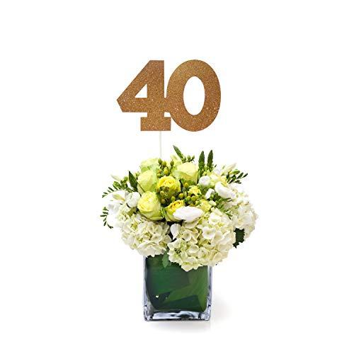 40 Centerpiece Stick (Set of 3), 40th Class Reunion Centerpiece Stick -