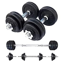 Body Revolution Dumbbell Set Cast Iron Dumbells – Adju...