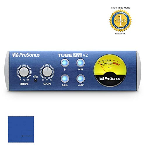 - PreSonus TubePre v2 Compact Single-channel Microphone Preamplifier with 1 Year Free Extended Warranty
