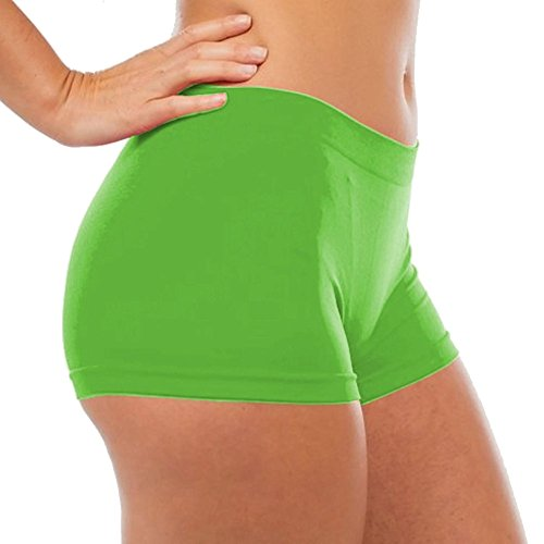 Victoria Women's Seamless Spandex Boyshort Underskirt Pant Short Leggings, Green, LXL (Booty Shorts Sexy)