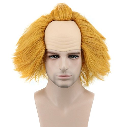Karlery Fluffy Short Bob Curly Orange and Yellow Wig Halloween Cosplay Wig Costume Anime wig (Yellow)