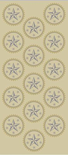 Geographics Silver/Gold Seals, Pack of 45 (45930) Gold Star Seal