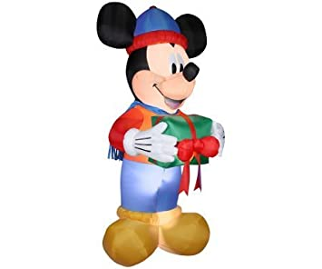 Amazon.com: Gemmy Christmas Inflatable Mickey Mouse w/Present ...