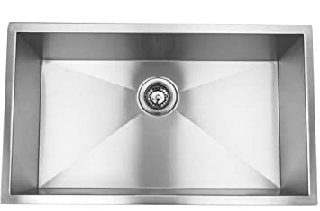 High Quality 23u0026quot; Single Bowl Undermount Stainless Steel Kitchen Sink With Strainer Nice Ideas