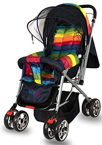 BabyGo Delight Reversible Baby Stroller and Pram with Mosquito Net