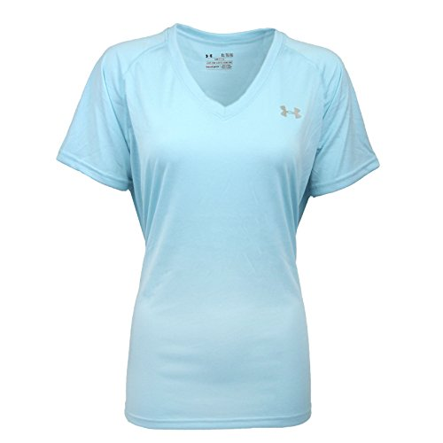 Under Armour Women's UA Tech V-Neck T-Shirt Tiffany Blue/Steel - Co Tiffany Kids &
