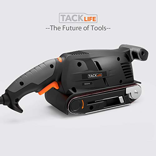 3 × 18-Inch Belt Sander with 13Pcs Sanding Belts, Tacklife Sanding Platform, with 10Feet(3M) Power Cord, Variable-speed Control, Fixed Screw Clamp, Dust Box, Vacuum Adapter - PSFS1A by TACKLIFE (Image #8)