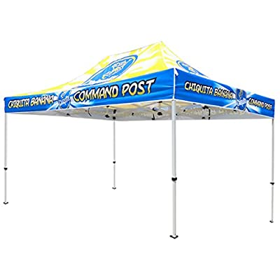Elite Canopy 10'x15' Commercial-Grade Steel Pop-Up Canopy Trade Show Outdoor Tent w/Roller Carry Bag : Garden & Outdoor