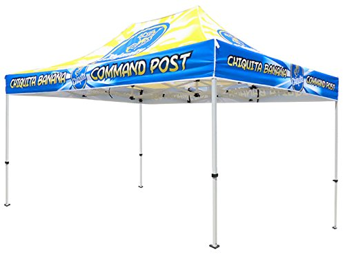 Elite Canopy 10 x15 Commercial-Grade Steel Pop-Up Canopy Trade Show Outdoor Tent w Roller Carry Bag