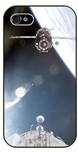 iPhone 4 / 4s Soyuz spacecraft - black plastic case / Space, Stars, Fantasy