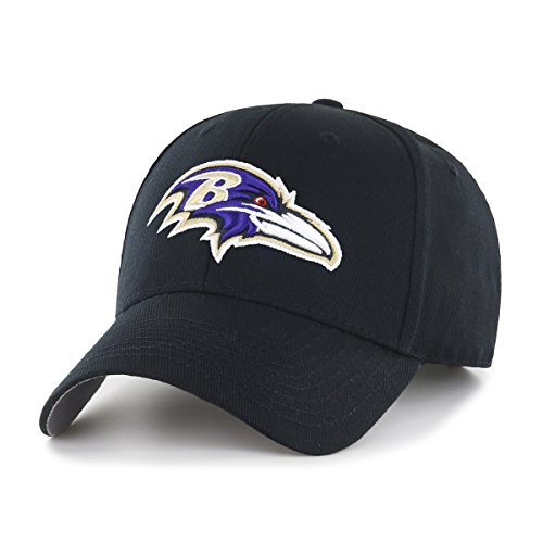 NFL Baltimore Ravens OTS All-Star MVP Adjustable Hat, Black, One Size