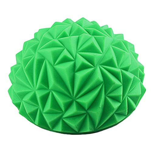 Fine Foot Massager Spiky Massage Ball PVC Foot Trigger Point Stress Relief Yoga Massager Relieve Plantar Fasciitis Heel Spurs Foot Arch Pain Acupressure Reflexology Relax (Green) (Stress And Its Effects On The Body)