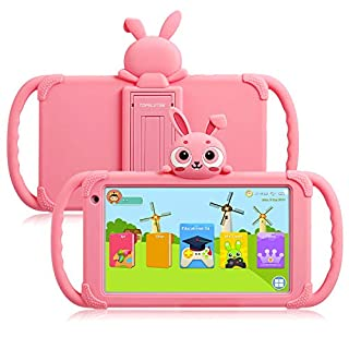 Kids Tablet 7 inch Toddler Tablet WiFi Android Tablet for Kids 16GB Parent Control with Pre-Installed Educational APP Kids Edition Learning Tablet Kid-Proof Case with Stand 4000mah Long Standby (Pink)