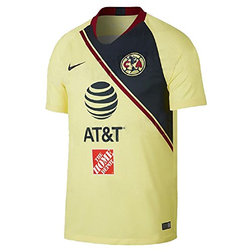 NIKE 2018-2019 Club America Stadium Home Jersey (Lemon Chiffon) (L)