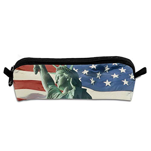 Kui Ju Pencil Bag Pen Case US Statue of Liberty Cosmetic Pouch Students Stationery Bag Zipper Organizer -