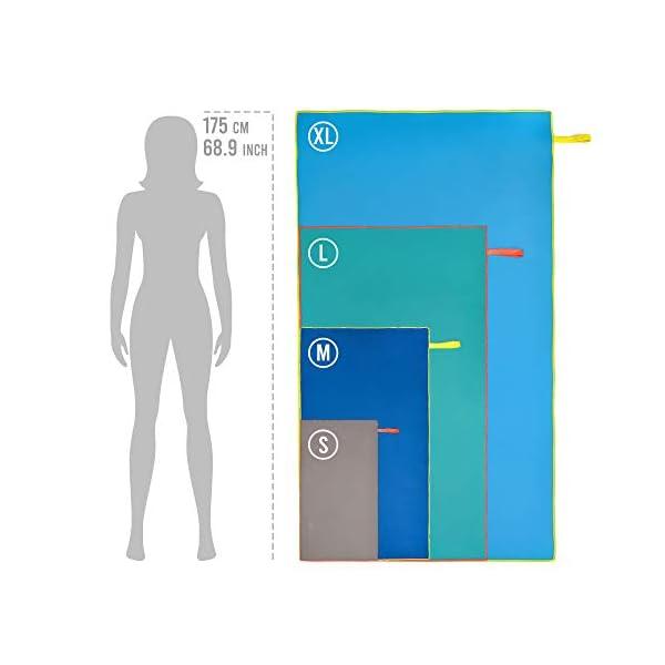 Meteor Asciugamano Microfibra - Salvietta Sportivo - Telo Compatto Leggero Assorbente Morbido Fitness Spiaggia Campeggio… 4 spesavip