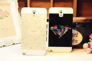Galaxy Case, Fashion Splicing Floral and Colourful Diamond White Back Case Cover for Samsung Galaxy Note3 , 2 pieces Kimberly Kurzendoerfer