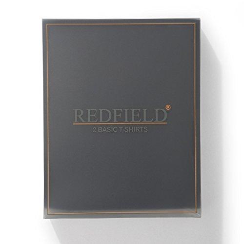 2er Pack T-Shirts mit Rundhalsausschnitt in schwarz von Redfield bis Übergröße 10XL