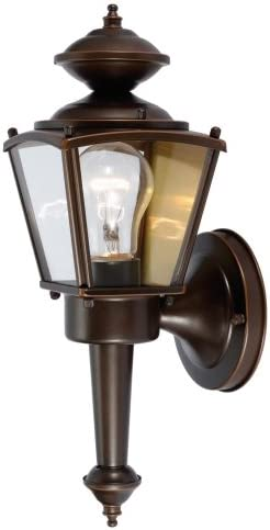 Hardware House 544213 13-1 2-Inch by 4-1 2-Inch Outdoor Lighting Fixture Rust