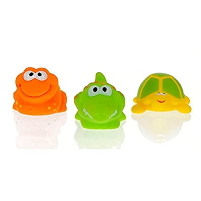Vital Baby Play 'n' Splash 3 Piece Jungle Critter Friends Bathtime Toys (Discontinued by Manufacturer) : Rubber Bathtub Toys : Baby